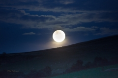 Harvest Moon rising (and penumbral eclipse), Saddleworth