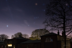 Orion over the Farm Centre, Heaton Park