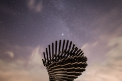 Singing Ringing Tree and the Summer Triangle, South Pennines