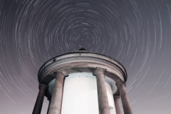 Star trails over theTemple, Heaton Park