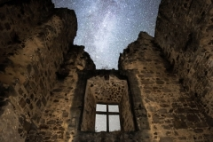 Cygnus over Chateau de St Germain, Confolens, France