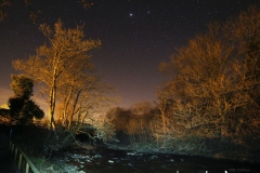 Jupiter over the River Greta, Ingleton