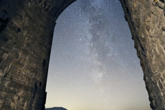 Milky Way and Ingleborough from Ribblehead Viaduct