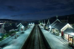 Starry night at Settle Station