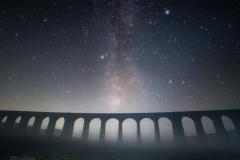 Misty Ribblehead Milky Way